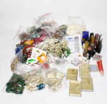 A Collection of Costume Jewellery, Beads, Makeup & Embellishments