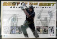 An Autographed Adam Gilchrist, Best of he Best Poster,