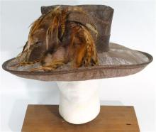 A Neil Grigs Studio Hat with Feather Detail