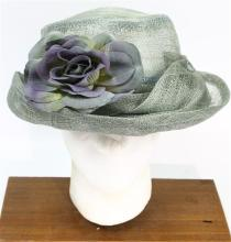 A Grevi Mode Made in Italy Hat with Flower Detail