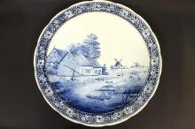 A Blue & White Delftware Charger