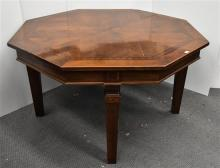 An Inlaid Octagonal Extension Dining Table,
