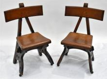 A Pair of Oak Arts & Crafts Side Chairs, 1905