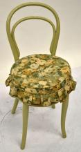 A Green Painted Bentwood Side Chair