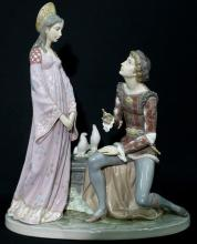 A 1982 Lladro Porcelain Figurine of Romeo & Juliet, Lovers of Verona,