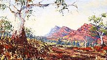 Peter Matthews (working 1968 - 79) Australia Mt John, Wilpena oil on board