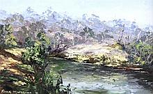 Peter Matthews (working 1968 - 79) Australia River Bend, Hindmarsh River oil on board