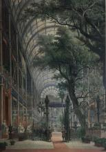 Louis Haghe (1806-1885) Belgian The Crystal Palace (Interior) 1851 Colour lithograph