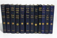 [Children's Classics] A Set of Twelve Matching Soft Leather Bound Children's Classics,