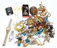 A Collection Of Costume Jewellery & Watches,