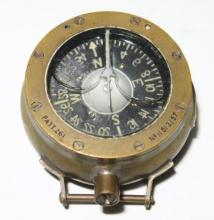 An English WWI Brass Pilots Wrist Compass