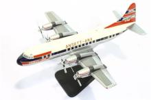 A Quality Scale Model of Ansett-ANA VH-RMB Lockheed L-188A Electra on stand