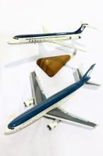 Two Compass Airline scale model planes
