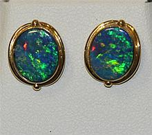 A Pair of Opal Stud Earrings