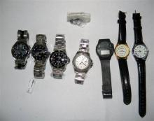 A collection of mens watches incl replica Rolex''s