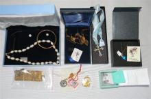 A collection of costume jewellery incl. bracelets, Murano glass pendants, necklaces & earrings