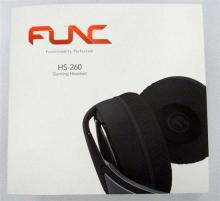 Two Func HS260 Gaming Headsets in sealed boxes