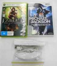 Wii & Xbox 360 games plus controller & nunchuck