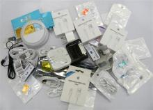 An assortment of apple style & other phone accessories