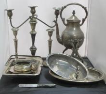 A Collection of Metal & Silver Plate Items [12]