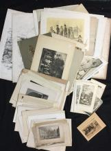 A Folio of various 19th Century European Subjects engravings, etchings & prints approx. 50-60