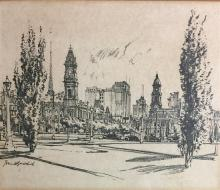 Various Etchings, Prints, Crossstitch & Pencil Sketches (13)