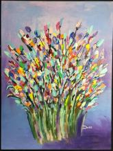 David Doss, Flowers, oil on canvas, signed lower right