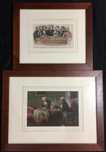 Chess Celebrities at the Late Chess Meeting, from a Photograph by Sinor Aspa ( Leamington Chess Club), handcoloured engraving + one...
