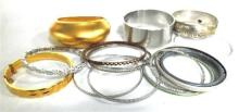 A Collection of Costume Jewellery Bangles,