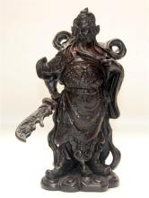 A Figure of Guan Yu, Important General, Han dynasty, Worshipped in China as the God of Wealth & Business, 20th Century,