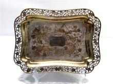 A Chinese Silver Tray,