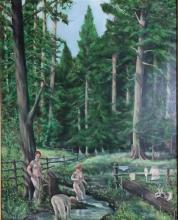 Igor Guide (b.1961) Russian Morning in a Russian Forest Oil on board