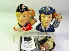 Two Royal Doulton Military Toby Jugs,