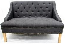 A Selig Munroe Button Back Two-Seater Settee