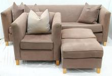 An Ashco Custom Made Three Piece Sensuede Lounge Suite,