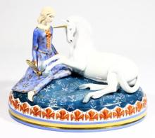 A Royal Doulton Myths & Maidens ''Lady & the Unicorn'' Figure,