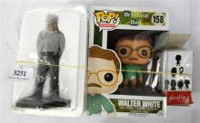 A Breaking Bad pop Walter White plus two other figures