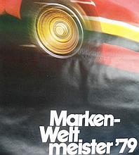 A 1979 Porsche World Champion Poster along with A Carrera Generation Poster