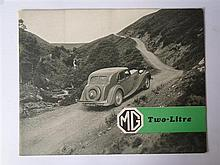 A 1938 MG Two-Litre Brochure, rather lavish, 8 pages