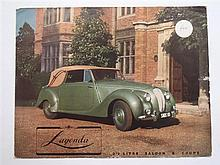 A Rolls-Royce and Bentley 1962 Blenheim Palace Meeting 3 June Booklet,