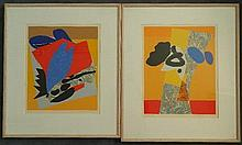 † Alun Leach-Jones (b.1937) Untitled (2) Each silkscreen ed. AP VII/XV, 8/10