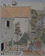 Peter Kingston (b.1943) At Home 1985 Handcoloured etching ed. 1/90