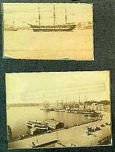 Charles Bayliss (1850-1897) A Collection of 5 Photographs of Sydney Harbour including: (A Steam Ferry); The Vernon, moored; Circular...