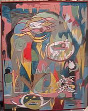 George Julian Browning (1918-2000) Voices from the Sky: Constructions I Oil on board