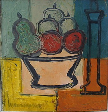 Harry Rosengrave (1899-1986) Still Life Oil on cardboard
