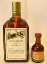 700ml Cointreau plus baby bottle of Drambuie [size unknown]