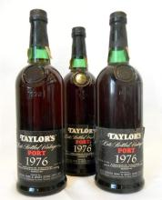 Three 750ml Taylor''s Late Bottled Vintage Port 1976