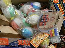 A large box of children's new old toys