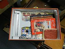 A box of artists accessories