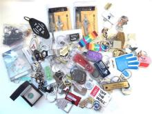 A Collection Of Keyrings Including Car And Novelty